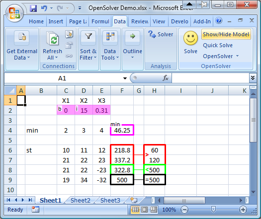 Using OpenSolver – OpenSolver for Excel