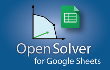Announcing OpenSolver for Google Sheets! – OpenSolver for Excel