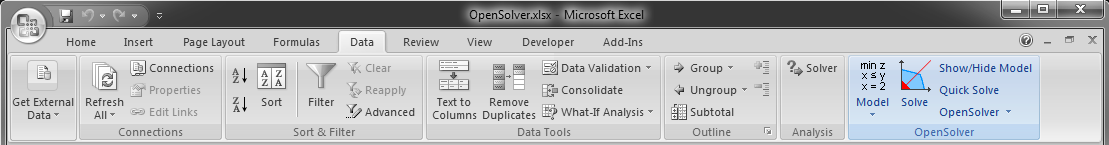 OpenSolver for Excel